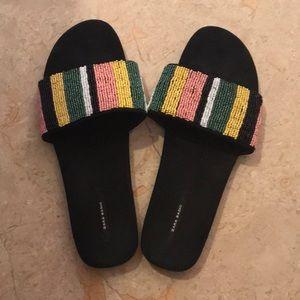 Zara beaded sandal size 39